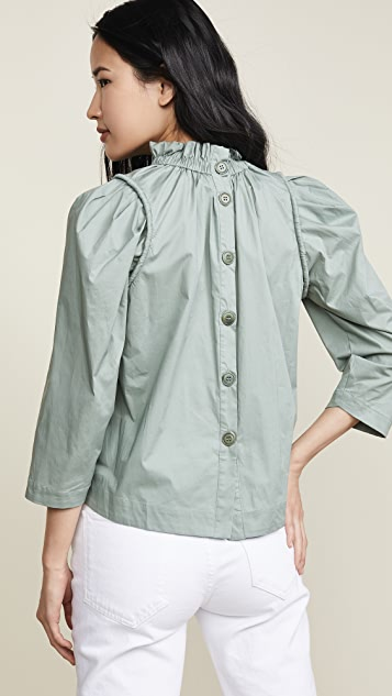 Sea Sienna 七分袖女式衬衫