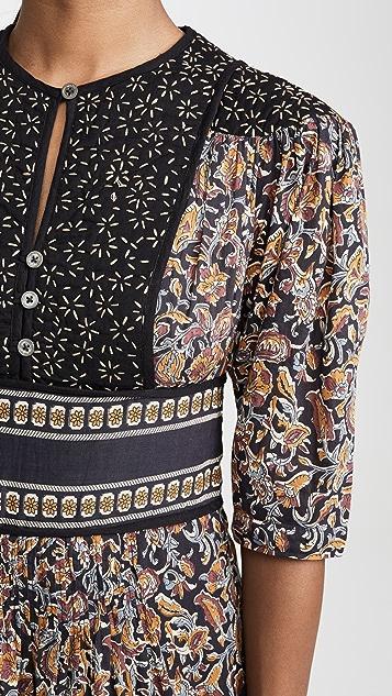 Sea Nicolette 泡泡袖中长裙