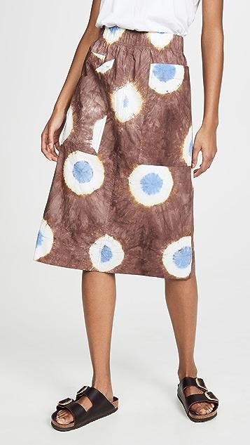Sea 扎染半身裙