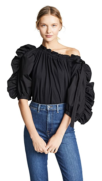 See by Chloé 拼接府绸衣袖女式衬衫