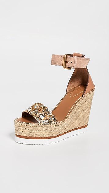 See by Chloé Glyn 坡跟编织鞋