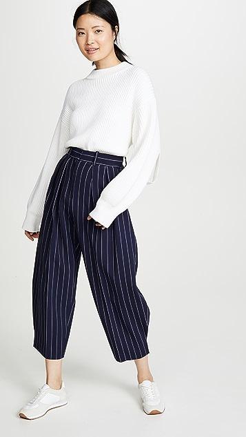 See by Chloé 细条纹长裤