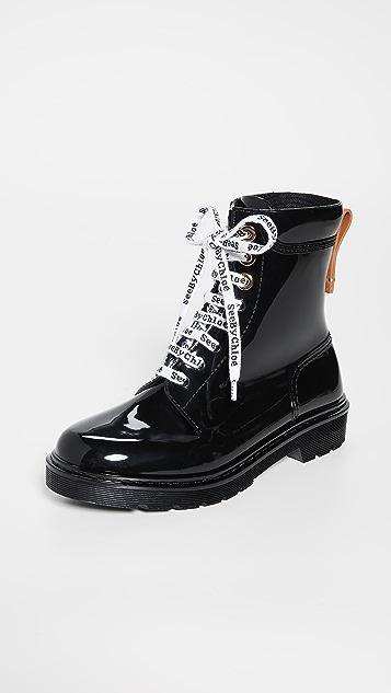 See by Chloé Florrie 系带雨靴