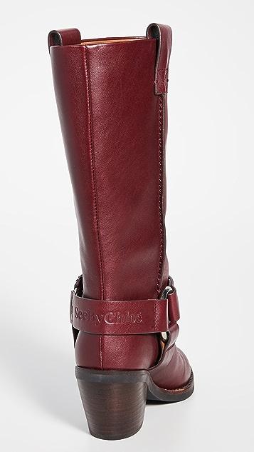 See by Chloé Eddie 西部风格高筒靴
