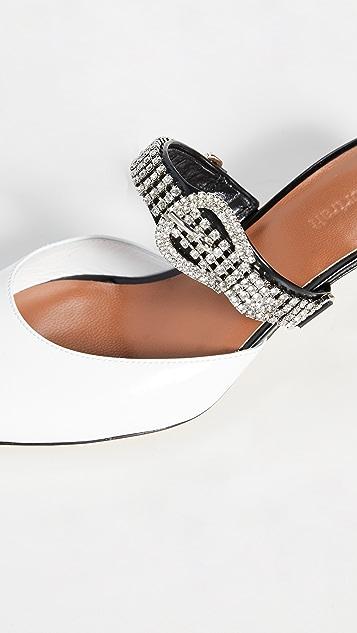 Self Portrait Elsa 水晶搭扣猫跟穆勒鞋