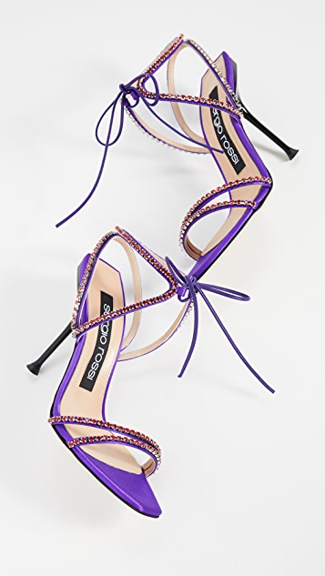 Sergio Rossi Milano 菱形凉鞋