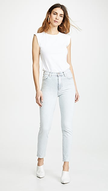 7 For All Mankind 高腰修身牛仔裤