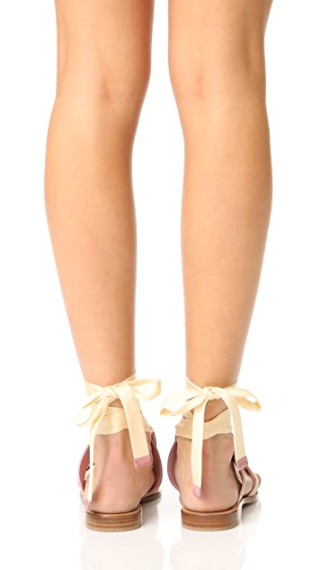 萨拉燧石灰 Grear 系带凉鞋