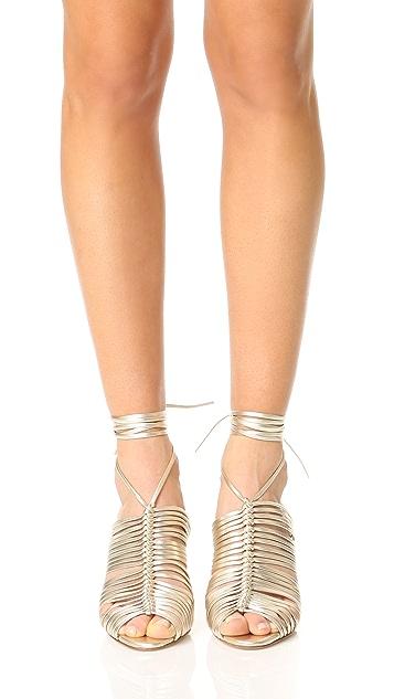 萨拉燧石灰 Ivy 系带凉鞋