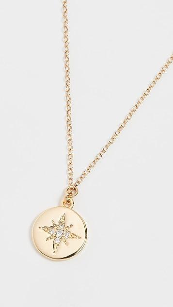 Shashi 星簇硬币坠饰项链
