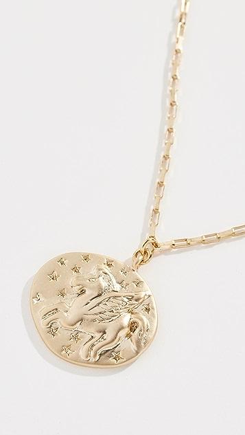 Shashi 硬币坠饰项链