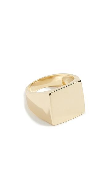 Shashi 方形图章戒指