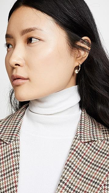 Shashi 经典圈式耳环