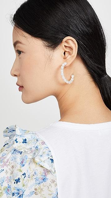 Shashi Princess Leia 圈式耳环