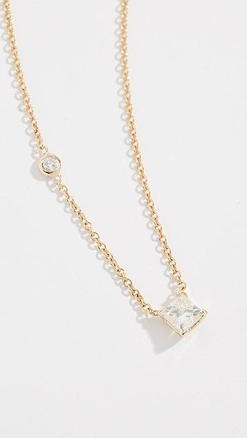 Shay 18K 钻石独钻项链