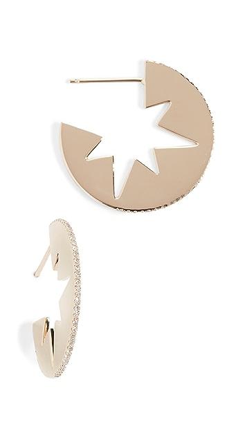 Shay 星系风格镂空圈式耳环