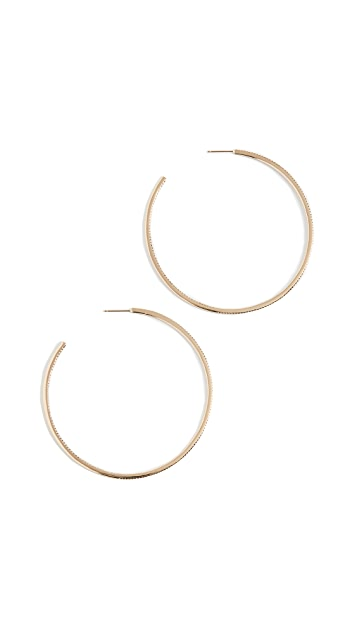Shay XL 密镶钻石单排圈式耳环