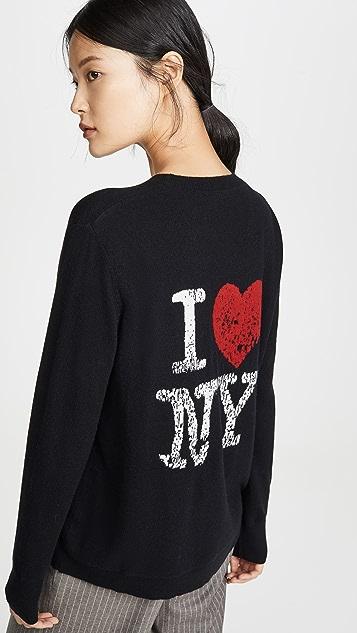 6397 I Love NY 开司米羊绒毛衣