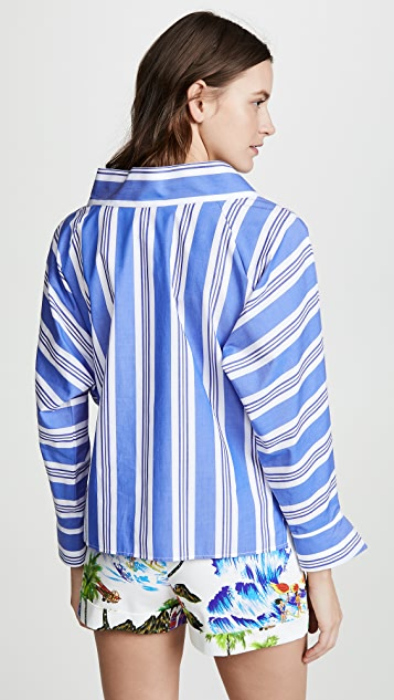 Stella Jean 条纹 V 领上衣