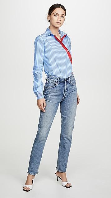 Stella Jean 斜插系扣上衣
