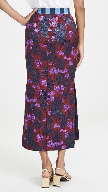 Stella Jean 棕榈树中长半身裙