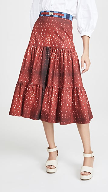 Stella Jean Fawn 印花半身裙