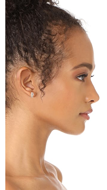 Suzanne Kalan Fireworks 18K 金钻石长方形耳环