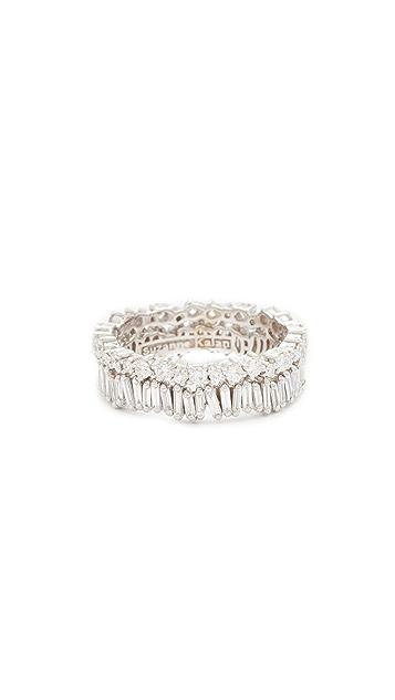 Suzanne Kalan Fireworks 18K 金钻石双指环戒指