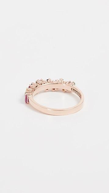 Suzanne Kalan 18K 金钻石和蓝宝石戒指