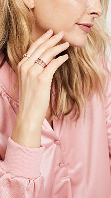 Suzanne Kalan 18k 金红宝石倒钩铁丝戒指