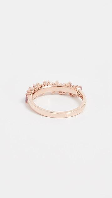 Suzanne Kalan 18K 金粉色蓝宝石长方形宝石戒指