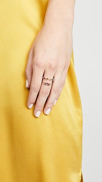 Suzanne Kalan 18K 长方形蓝宝石迷你戒指