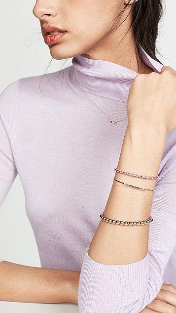 Suzanne Kalan 18k 玫瑰金钻石长方形宝石手链