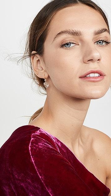 Suzanne Kalan 18k 黄金心形吊坠垂式耳环