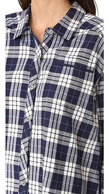 肤色 梭织格子衬衣