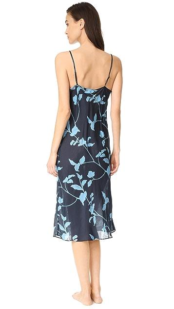 肤色 花朵印花斜纹衬裙