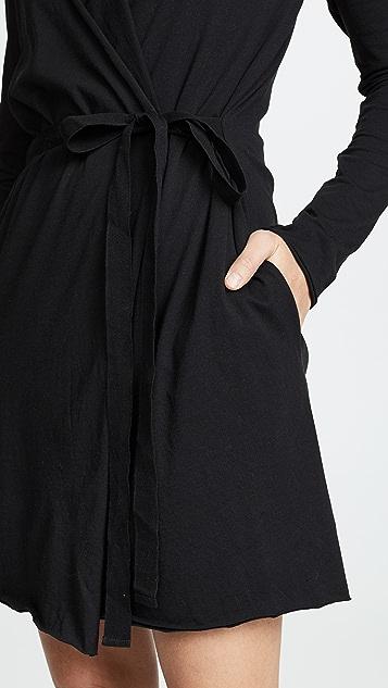 肤色 裹身式长袍