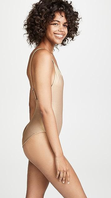 肤色 The Sloane Mallot 连体泳衣