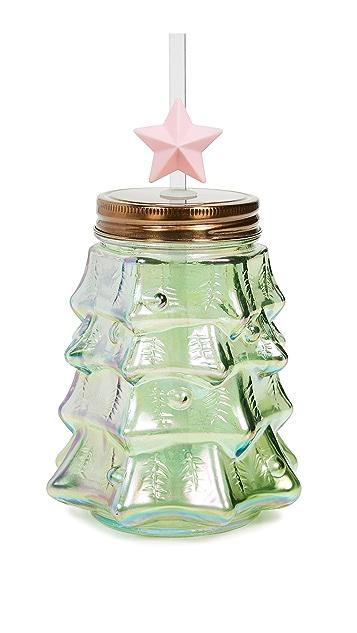 Slant Collections 圣诞树吸管杯