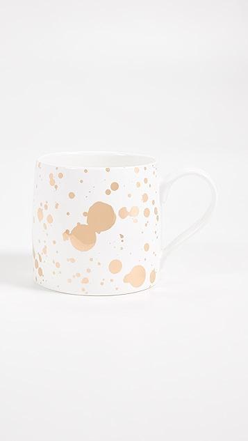 Slant Collections 飞溅彩绘大号咖啡杯