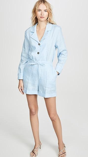 Sleeper 休闲版型亚麻短裤睡衣套装