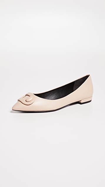 Stella Luna 环绕式搭扣平底鞋