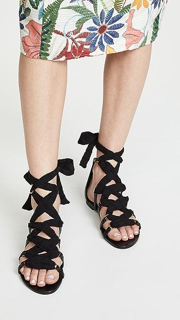 Stella Luna 链条平底凉鞋