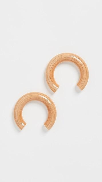 Sophie Monet Sophie Monet x Nanushka 弧形耳环