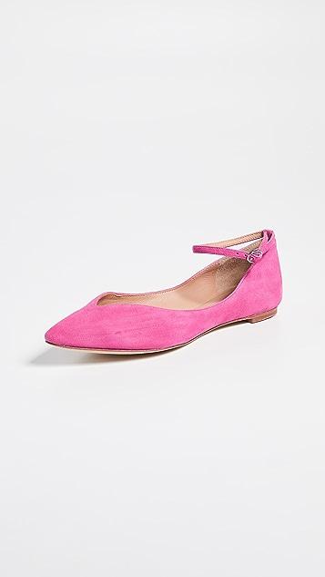 Sigerson Morrison Suzie 绒面革尖头平底鞋