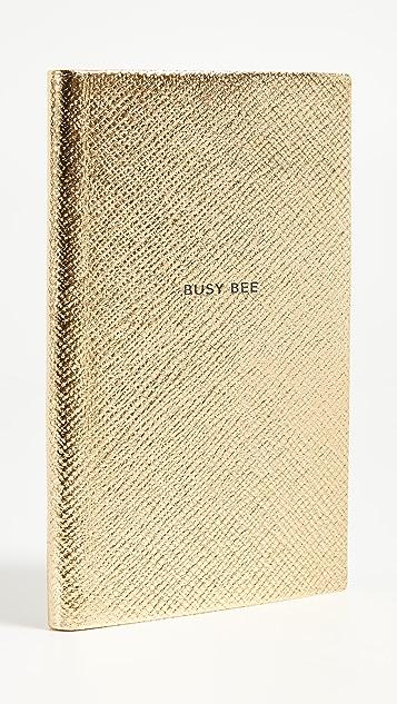 Smythson Busy Bee Panama 笔记本