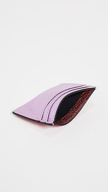 Smythson 金属色皮平整卡包