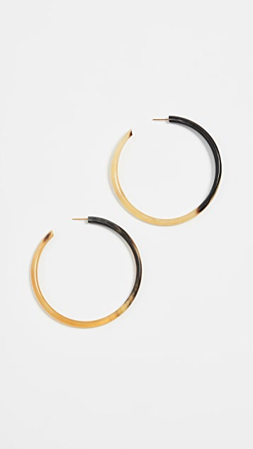 Soko 大号角形圈式耳环