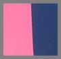 海军蓝/粉色/奶油色条纹