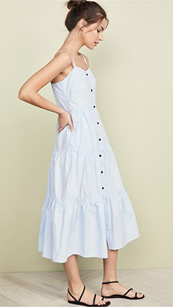 Solid & Striped 系扣分层连衣裙